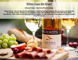 40 Knots Wine Class for two