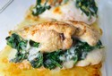 Stuffed Chicken Breast with White Wine Sauce